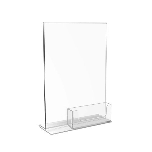Displaypro A5 Acrylic Menu Holder Display and Business Card - Free Shipping!
