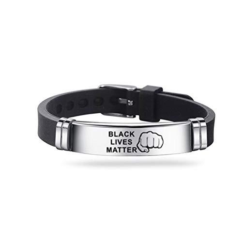 I Can\'t Breath Silikon Armband Black Lives Matter Einstellbar Kieselgel Armbänder Black Power Händen Gummi Armbänder Silikonband Uhrenarmband Silikonarmbänder Partyzubehör Unisex