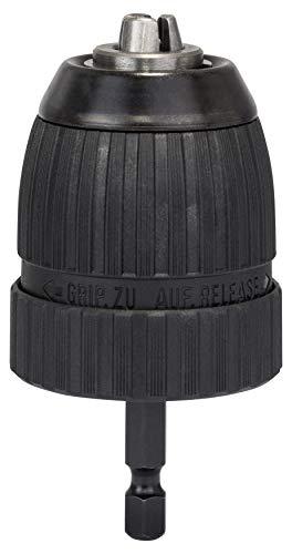 """Bosch Professional Schnellspannbohrfutter (2 Hülsen, Spannbereich 1 - 10 mm, Aufnahme 1/4\"""" - Außensechskantschaft, Rechts- und Linkslauf, Zubehör Akku Schrauber)"""