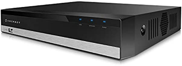 Amcrest NV2108E-HS 8CH PoE NVR 4K/6MP/5MP/4MP/3MP/1080P Network Video Recorder, 8-Channels, Supports 8 x 4K IP Cameras, HDD Not Included (Supports up to 6TB Hard Drive)