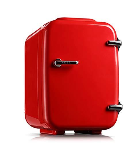 LOKKG Mini réfrigérateur 4L Voiture réfrigérateur Lait Maternel cosmétiques Mini Petit réfrigérateur dortoir Petit Chauffage et boîte de Refroidissement muet, Rouge