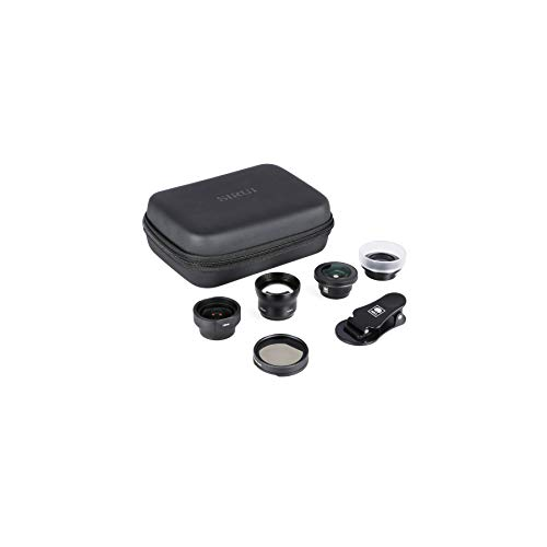 Sirui 4in1 Lens Kit for Mobile Phones (18mm Wide Angle, 60mm Portrait, 170° Fisheye, 10X Macro) Made of German Schott Glass and Aluminium Housing
