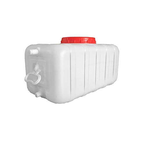 Yimihua Bidon Aqua Cuadrado Cubo De Plástico 100L Depósito De Agua Tanque De Agua del Coche Engrosado Bidón Plástico con Grifo Envase Agua Que Acampa Bidón Alimenticio Cubo De Purificación De Agua