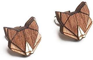 BeWooden Ohrstecker aus Holz | Verschiedene Tiere | Schmuck für Junge Frauen außergewöhnliche Geschenke für Naturfreunde & Holzliebhaber