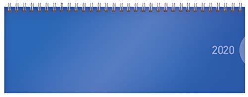 Tischquerkalender Classic Colourlux blau 2020: 1 Woche 1 Seite; Bürokalender mit nützlichen Zusatzinformationen; Format: 29,8 x 10,5 cm