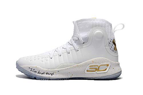 Bazi Sport Men's UA Sports Basketball Curry 4 Shoes 7 M US Golden White