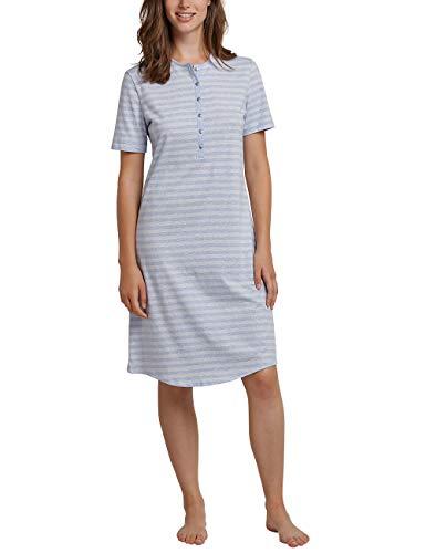 Schiesser Damen 1/2 Arm, 100cm Nachthemd, Blau (Hellblau 805), 38 (Herstellergröße: 038)