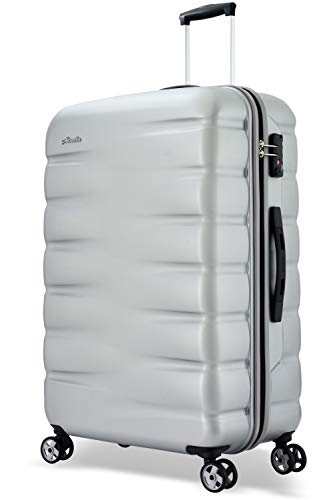 Probeetle by Eminent Suitcase Voyager VII 2.0 L 77cm 102L Travel Luggage Large Lightweight Hard Shell 4-Wheel Trolley Silver