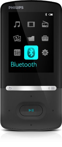 Philips GoGear Azure SA5AZU08KF/12 MP4-Player 8GB (5,6 cm (2,2 Zoll) TFT-Display, FullSound, UKW-Radio) schwarz