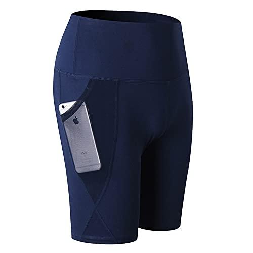 Pantalones Cortos para Mujer Deportes Correr Secado rápido Pantalones Ajustados de Cinco Puntos Moda Simple Color Puro Ocio Fitness Pantalones Cortos de Yoga XL