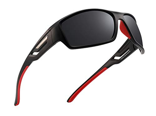 PUKCLAR Herren Sportbrille Polarisierte Sonnenbrille Fahrerbrille UV400 Schutz Cat3 CE