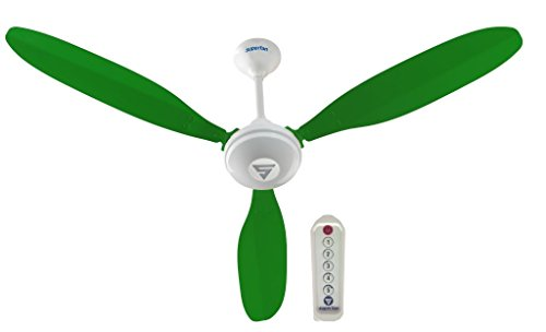 SUPERFAN X1 Ceiling Fan with Remote Control (35 Watts, Green)