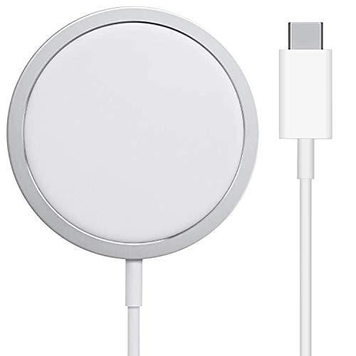 iGuard Wireless Charger Ladepad Aluminium, 15W kabellose Ladestation für alle Qi-Zertifiziert Ladegerät Kompatibel mit MagSafe iPhone 12/11 Pro Max/XS MAX/XR/XS/X/8/8+ AirPods