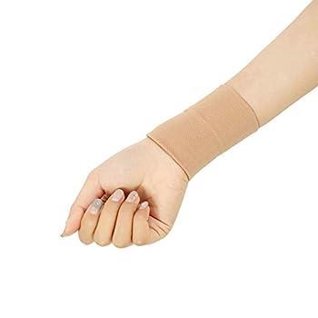 Forearm Tattoo Cover Up Wrist Brace Compression Sleeve Carpal Tunnel  1 pcs   M Skin