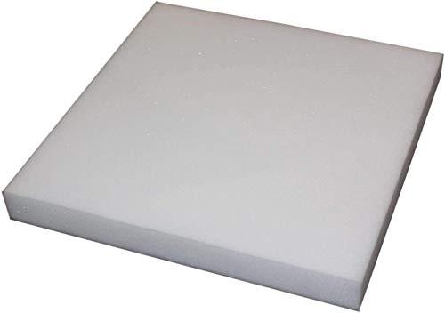 PERLARARA - Goma pluma para relleno de cojines de sofá, sillas, palés y sofás – Espuma para relleno 45 x 45 x 3 cm, también por metro