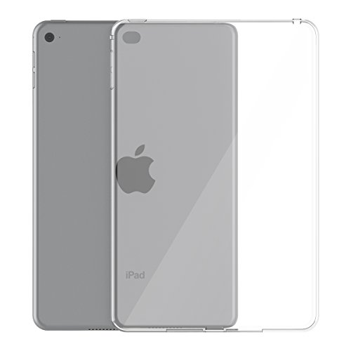 iPad Mini 4 Case, Asgens Transparent Slim Silicon Case Flexible Soft TPU Shockproof Tablet Computer Case for iPad Mini 4 7.9 inch Models A1538 A1550 (2015)