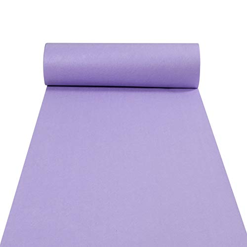 Aisle Runners Wedding Accessories Light-Purple Aisle Runner Carpet Rugs for Step and Repeat Display, Ceremony Parties and Events Indoor or Outdoor Decoration 24 Inch Wide x 15 feet Long