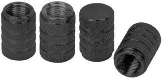 Cutequeen 4 Piece Anodized Aluminum Valve Caps Set, Black