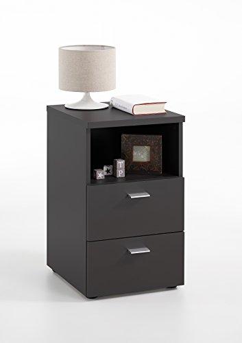FMD furniture 652-001E, nachtkastje in uitvoering zwart, afmetingen ca. 35 x 61,5 x 40 cm (BHT), spaanplaat met melaminehars.