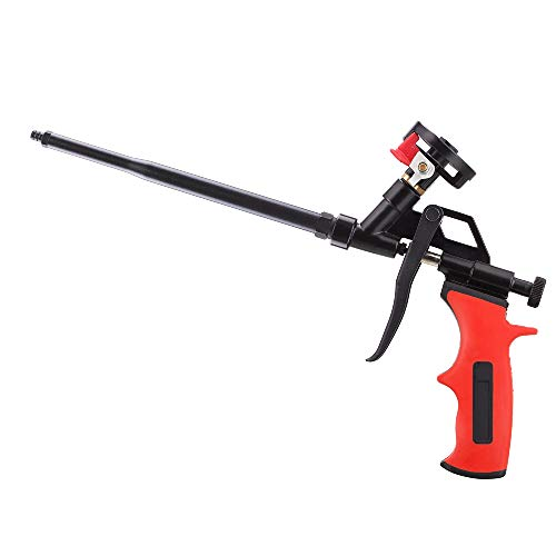 SocsPark Needn't Clean Foam Gun, Pu Expanding Foaming Gun, Upgrade Caulking Gun, Heavy Duty Spray Foam Gun, Mental Body Covered with PTFE, Suitable for Caulking, Filling, Sealing, Home and Office Use