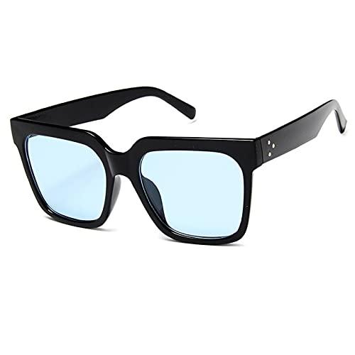 NBJSL Gafas de sol cuadradas para mujer con montura grande de moda Gafas de sol con protección UV Exquisito embalaje de regalo