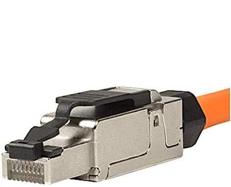 odedo 8X CAT 6A & 7 RJ45 Crimp Stecker Netzwerkstecker feldkonfektionierbar bis 10 Gigabit für Verlegekabel Netzwerkkabel, werkzeugfreie Montage mit Zugentlastung, Crimpstecker Cat7