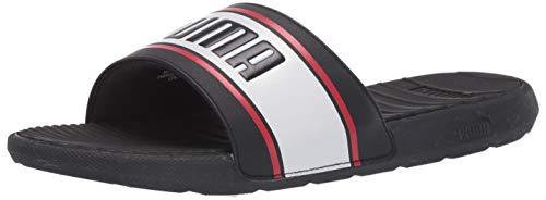 PUMA Cool Cat Slide Sandalia para hombre, negro (negro, blanco, rojo, (Puma Black-puma White-high Risk Red)), 46 EU