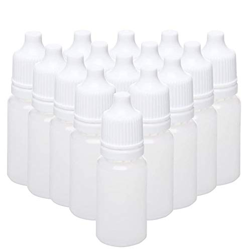 Fransande - 100 botellas vacías de plástico comprimibles de 15 ml