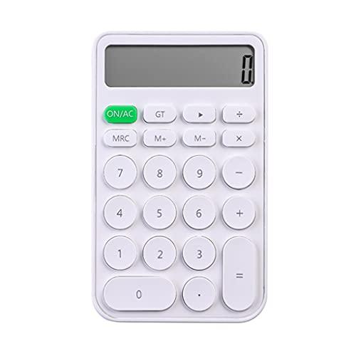 BENO Calculadora De Escritorio De 12 Dígitos Calculadora De Contabilidad Financiera Calculadora De Color De Caramelo para Oficinas Escuelas calculadora portatil (Color : White)