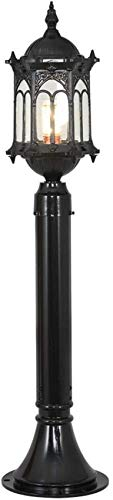 Lámpara de Columna de luz de Pilar Exterior Impermeable par