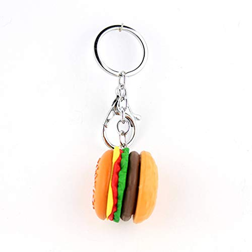RK-HYTQWR Hamburger Cheeseburger polymère Argile Porte-clés Simulation Alimentaire Pendentif Porte-clés, Simulation Hamburger Porte-clés