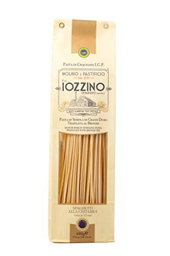 Pastificio F.lli Iozzino Selezione Formati Pasta Lunga 3Kg (6x500gr) pasta di Gragnano IGP (1 Kg linguine + 1 Kg spaghetti di Gragnano + 1 Kg spaghetti alla chitarra)