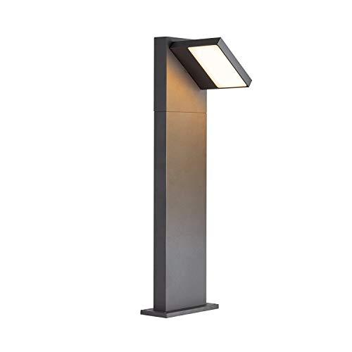 SLV LED Außenleuchte ABRIDOR 60 | Design Außen-Standleuchte, Außenbeleuchtung, Outdoor LED Wege-Leuchte, Pollerleuchte, Stehleuchte, Garten-Lampe, Gartenleuchte | CCT Switch (3000K/4000K), 750 lm, 14W