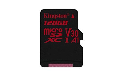 Kingston Canvas React - Tarjeta microSD, SDCR de 32GB SP, Clase 10, no Incluye Adaptador de SD, Adecuado para Tomar Fotos en Modo ráfaga y filmar vídeos en 4K