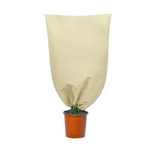 KongJies Pflanzenschutz-Abdeckung, Winterpflanzen-Warmhaltebeutel für den Garten (beige)