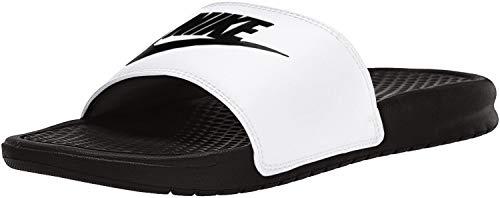 Nike Herren Benassi JDI Badeschuhe, Weiß Weiß Schwarz, 45 EU