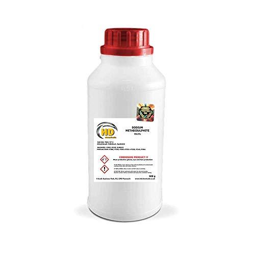 Metabisulfito de sodio, elaboración de cerveza casera y vino, 99% puro, libre de P&P HDPE, 500g, 1