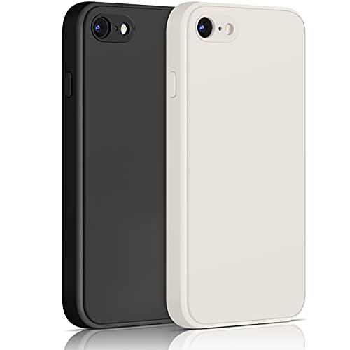 Yisica[2 Pack]Funda de Silicona Compatible con iPhone SE 2020 / iPhone 8...
