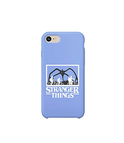 GlamourLab Stranger Things Kids On Bicycles Road_R2689 Carcasa De Telefono Estuche Protector Case Cover Hard Plastic Compatible with For iPhone 7 Novelty Present Birthday