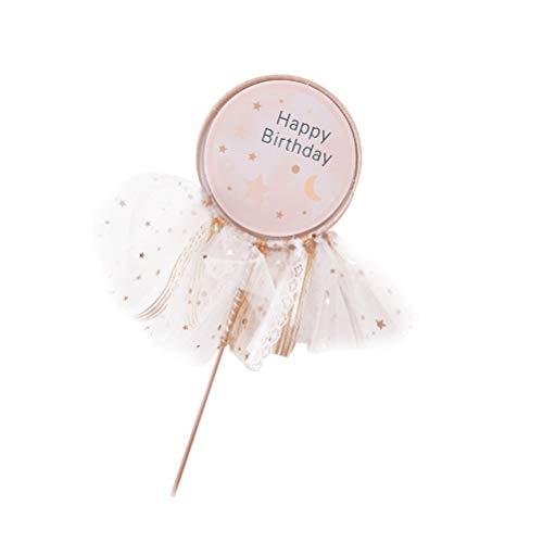 BESTOYARD Glitter Traumhafte Prinzessin Stil Kuchen Toppers Ballerina Cupcake Picks für Mädchen Geburtstag Thema Party Dekoration