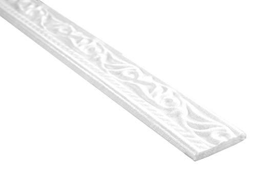 10 Meter | Flachleiste | Polystyrolleiste | Deckenleiste | Hexim | 45x8mm | M-10
