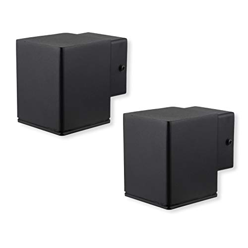 2er pack Moderne Edelstahl-Wandleuchte für den Außenbereich, GU10 (nicht im Lieferumfang enthalten), Downlight IP44 wasserdicht