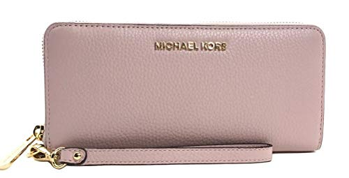 Michael Kors Jet Set Travel Continental Zip Around Leather Wallet Wristlet (Blossom)