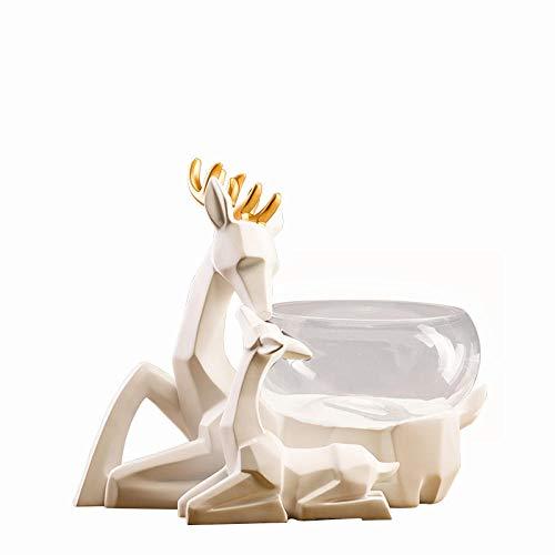 Jenny.Ben New Home Einweihungsparty Aquarium Dekoration Wohnzimmer nach Hause TV Kabinett Hirsch Tier Jungvermählten Hochzeitsgeschenk EIN REH begleitet von einem Aquarium