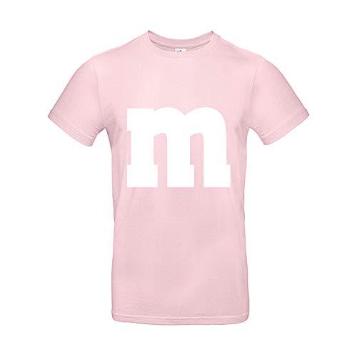 Shirt-Panda Herren T-Shirt M&M Karneval Gruppen Kostüm Fasching Verkleidung Party Darts Unisex Kinder Rosa L