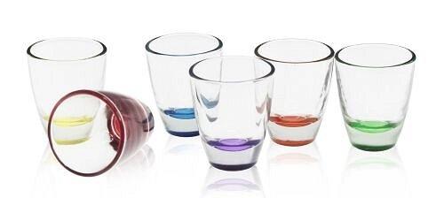 6 kleurrijke borrelglaasjes tequilaglazen borrelglas stamper wodkagglazen shots barrel
