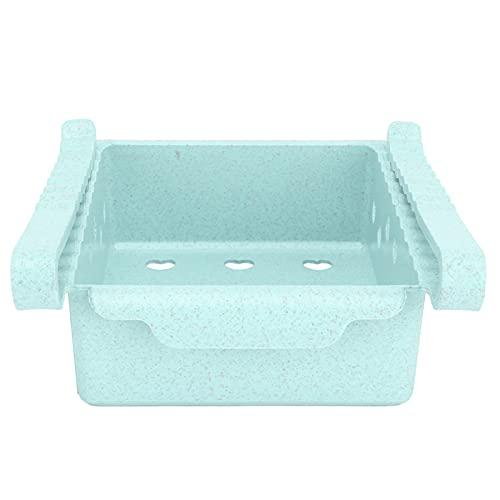 RUIRUIY Caja de almacenamiento para frigorífico extraíble Estante de almacenamiento para frigorífico con congelador de frutas(Verde)