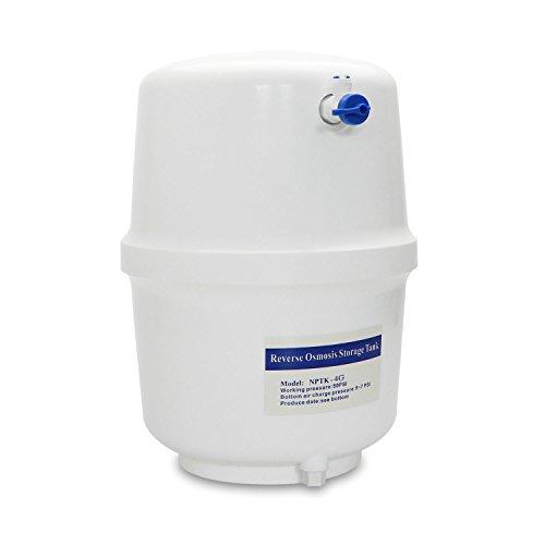 """smardy 4 galones (15,14 litros) depósito de agua tanque + Grifo de cierre para la manguera de agua (1/4"""") RO sistema de ósmosis inversa"""