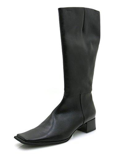 Mexx Elegante Lederstiefel Damen Schuhe Leder schwarz 2719 EU 42