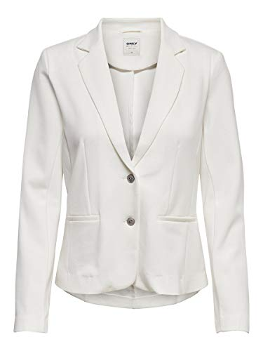 ONLY Damen ONLPOPTRASH Blazer TLR NOOS Anzugjacke, Weiß (Cloud Dancer Cloud Dancer), M